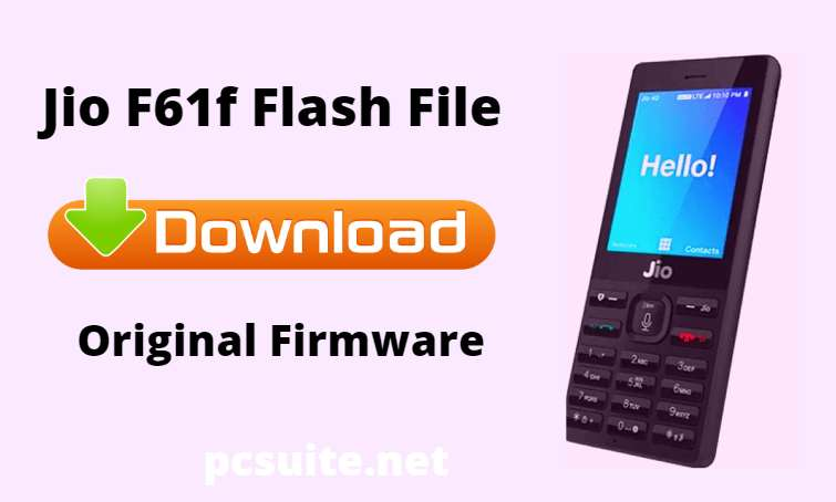 Jio F61f Flash File Download