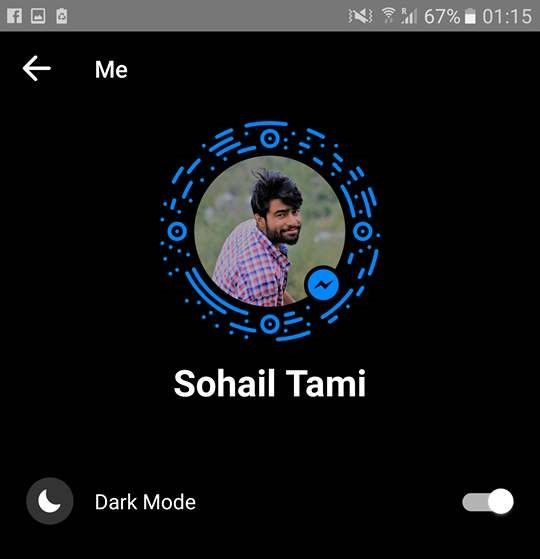 On Messenger Dark Mode Theme