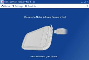 Welcome to Nokia Software recovery Tool on your Windows