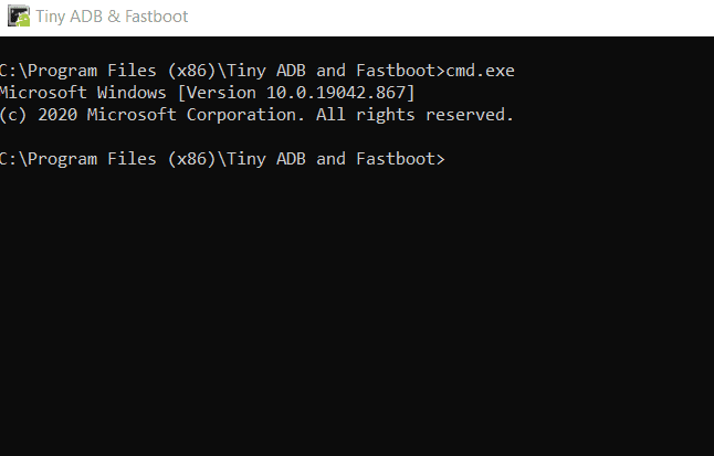 tiny adb and fastboot tool